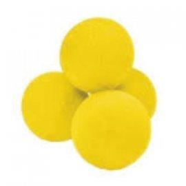 Bolas de 3.75 Cm. baja densidad 4 uni. colores variados
