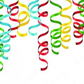 Serpentinas de la mano papel multicolor 5 X 5 metros. 8 uni.