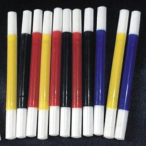 Varita mágica de colores plástico 10 cm.